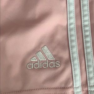 pink adidas sport shorts